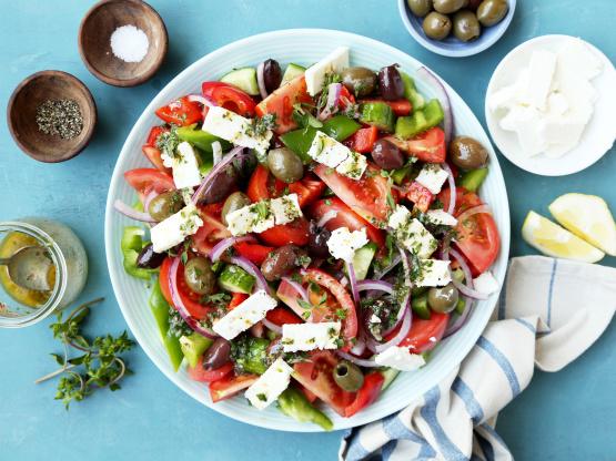 Greek Village Salad Recipe Genius Kitchen