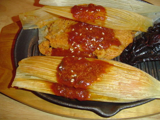 Mexican Food Chicken Tamales