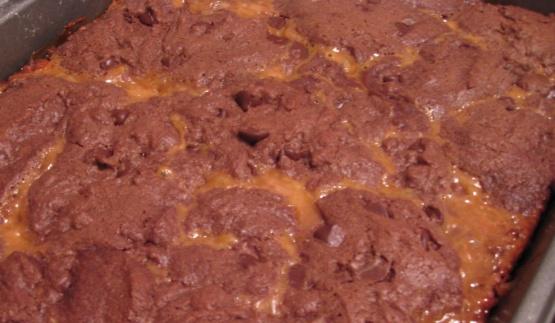 Chocolate Cake Caramel Bars Recipe Genius Kitchen