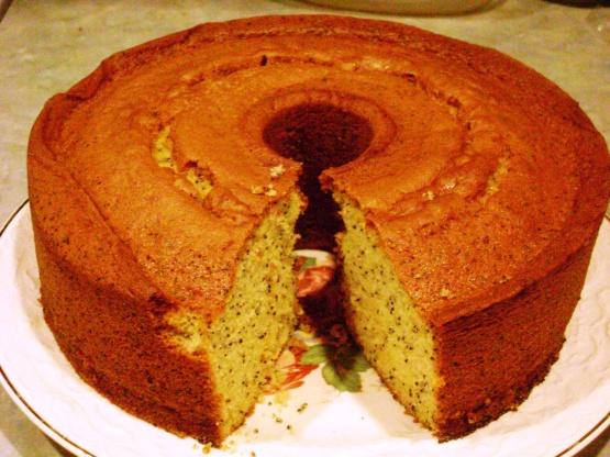 Lemon Poppy Seed Pound Cake Using Cake Mix