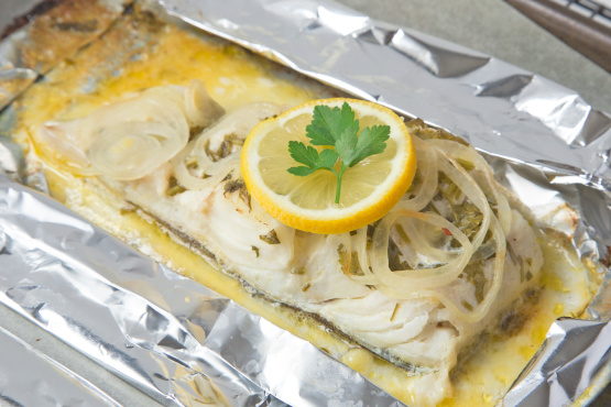 Cod fish grilled in foil recipe genius kitchen for How to cook cod fish
