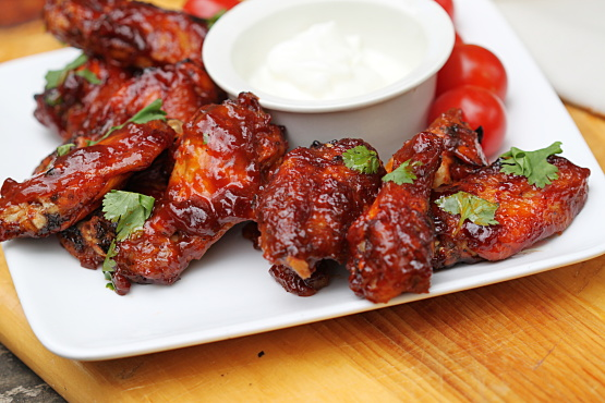 Honey Barbecue Chicken Wings Recipe Genius Kitchen