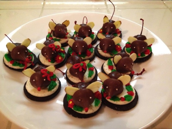 Chocolate Peanut Butter Mice Cookies