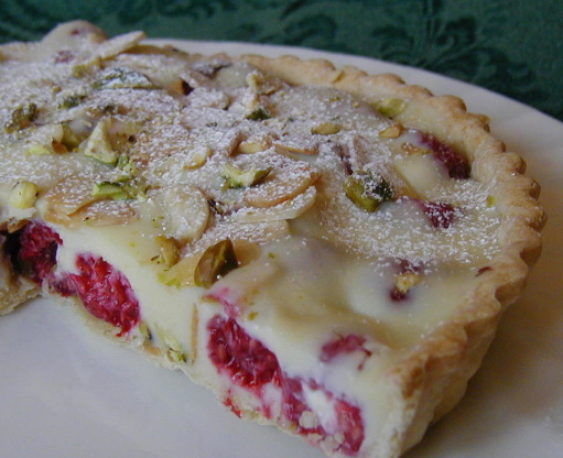 White Chocolate-Raspberry Tart, With Almonds And Pistachios Recipe - Genius Kitchen