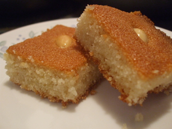 Turkish Semolina Cake Recipe