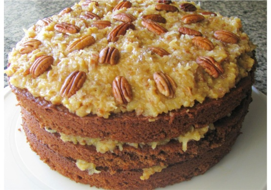 German Chocolate Cake From Top