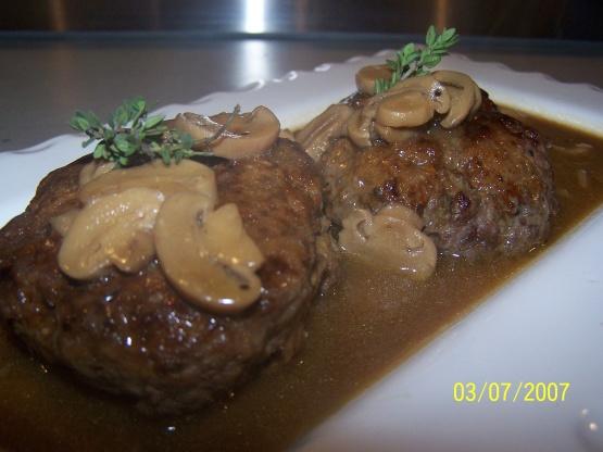 Salisbury Steak With Mushroom Gravy Recipe Genius Kitchen