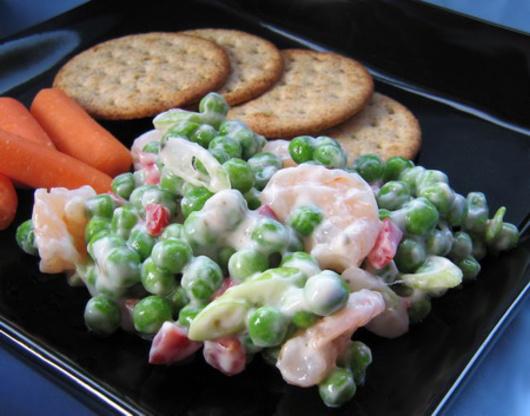 Shrimp Salad With Peas Recipe Genius Kitchen