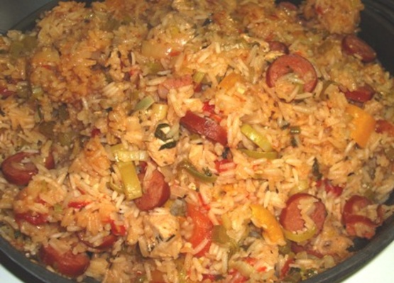 Spicy cajun chicken and sausage jambalaya recipe southernnius spicy cajun chicken and sausage jambalaya recipe southernnius kitchen forumfinder Image collections