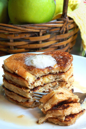 Apple-Pecan Pancakes Recipe - Genius Kitchen