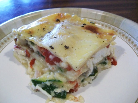 Vegetable Lasagna With A Thick Bechamel Sauce Recipe - Genius Kitchen