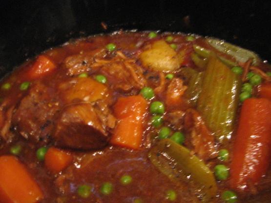 Slow Cooker Hearty Beef Stew Recipe Genius Kitchen