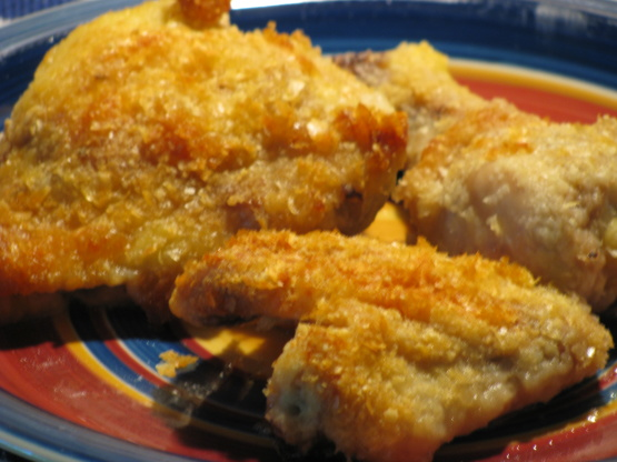Crispy Baked Chicken Made With Instant Potatoes Recipe Genius Kitchen