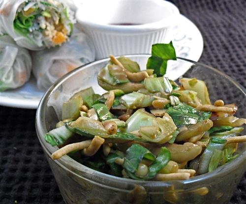how to make a bok choy salad