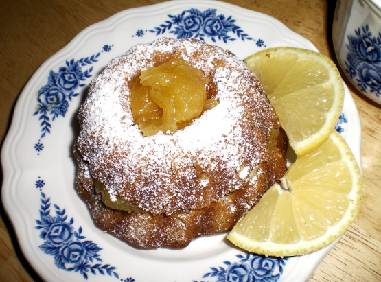 Cake Recipes Using Lemon Curd: Earl Grey Pound Cake With Lemon Curd Recipe