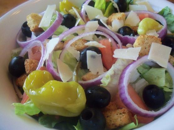 olive garden salad copycat recipe genius kitchen - Olive Garden Salad