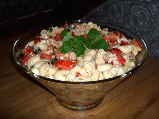 Greek Shrimp Pasta Salad Recipe