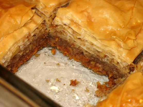 Easy Baklava Recipe Food Com