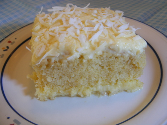 Moist Coconut Pudding Cake Recipe Baking Genius Kitchen