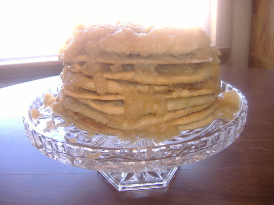 Great Grandma Effies Old Fashioned Stack Cake Recipe Genius Kitchen