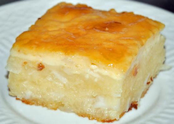 Tapioca Cake With Coconut Topping Recipe