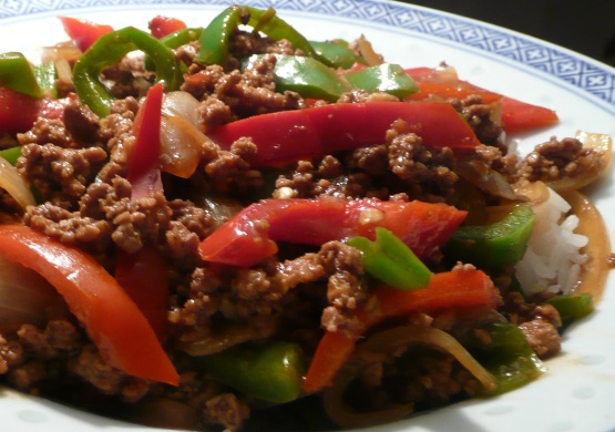 Asian Ground Beef Pepper And Onion Saute Recipe Genius