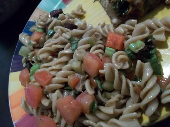 Mediterranean Fusilli Pasta Salad Recipe Genius Kitchen