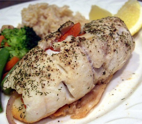 Veggie stuffed sole fish recipe genius kitchen for Sole fish recipes