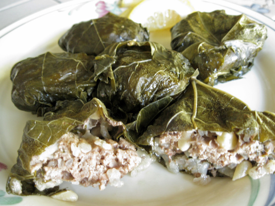 Dolmas Stuffed Grape Leaves Recipe Greek Food Com