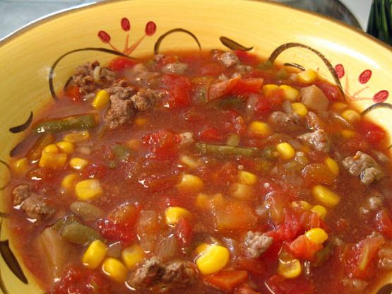 Hamburger Vegetable Soup Crock Pot Recipe Genius Kitchen