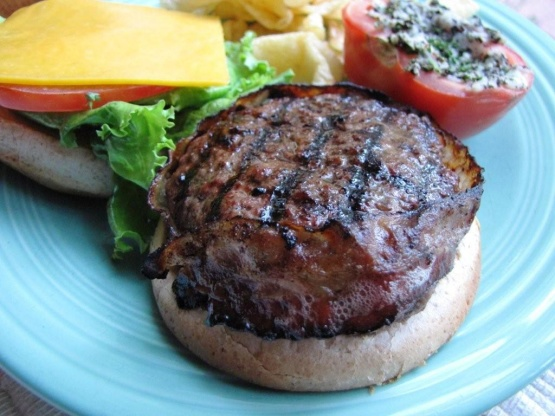 special bacon wrapped burgers recipe genius kitchen