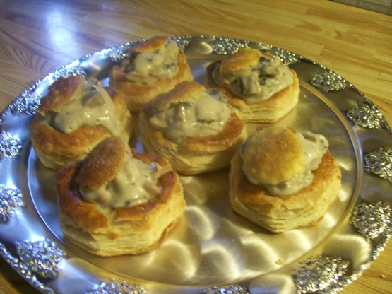 Mushroom Vol Au Vent Recipe Genius Kitchen