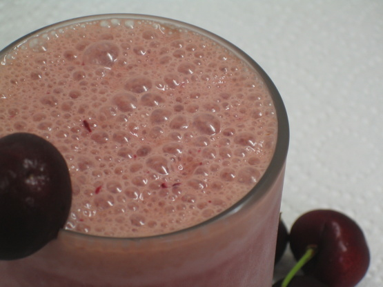 Chocolate Cherry Breakfast Smoothie Recipe