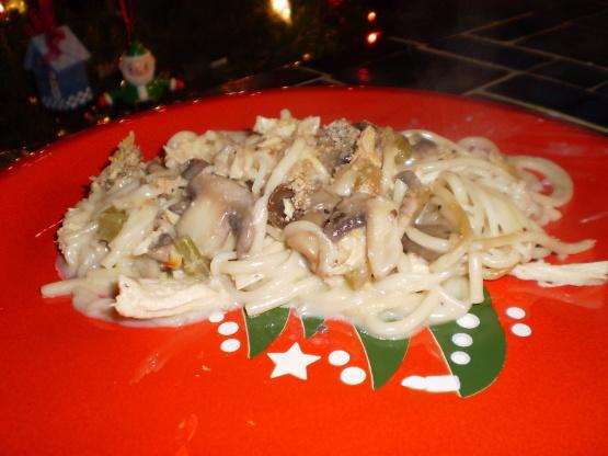 Lighter Chicken Tetrazzini Recipe Genius Kitchen