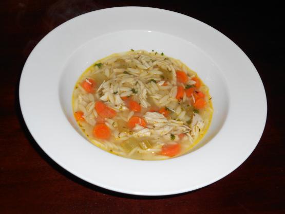 Lemon Chicken Orzo Soup Recipe Genius Kitchen