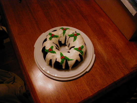 Easy Christmas Holly Bundt Cake Recipe Genius Kitchen