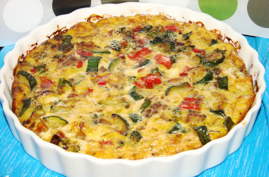 Crustless Vegetable Quiche Recipe Food Com