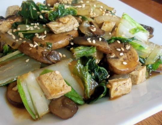 Stir Fried Shitake Mushrooms With Tofu And Bok Choy Recipe