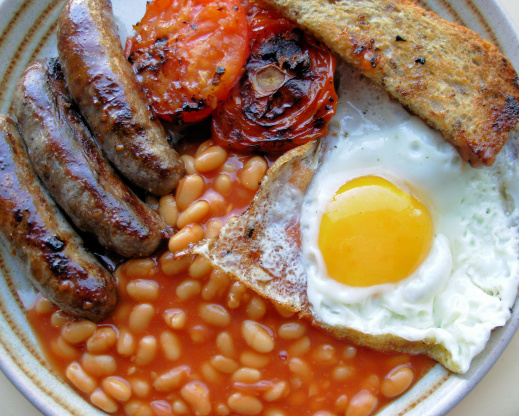 Bodacious British Bangers And Baked Beans Brunch Recipe