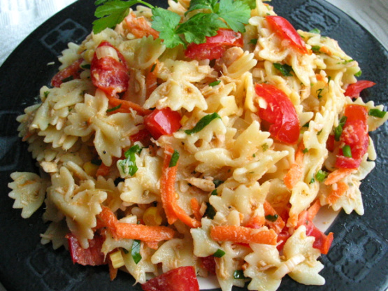 Healthy Tuna And Pasta Salad Recipe Genius Kitchen