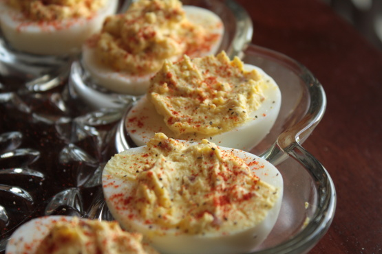 The geezers deviled eggs recipe genius kitchen for Table 52 deviled eggs recipe