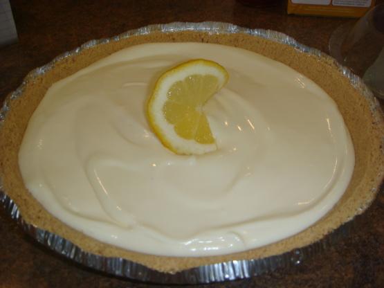 No Bake Lemon Ice Box Pie Recipe