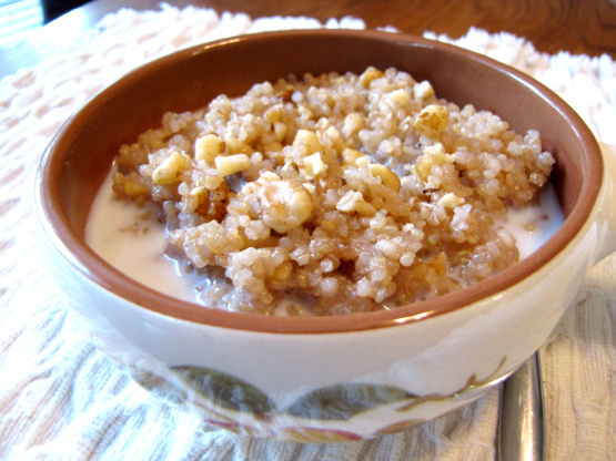 Maple walnut hot cereal with quinoa recipe low cholesterolnius photo by loof751 ccuart Choice Image