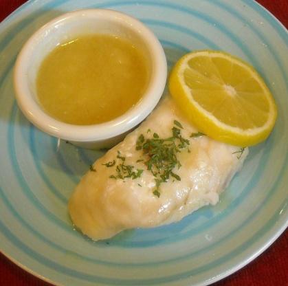 salsa de mantequilla y limón para pescados