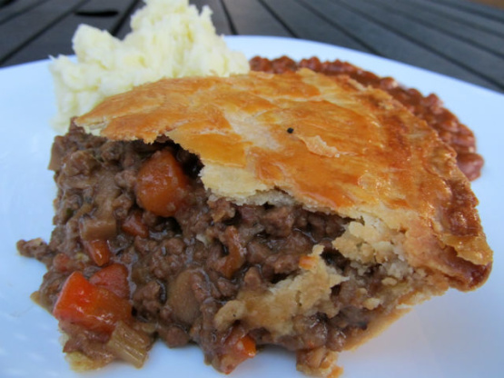 Beef And Onion Pie Recipe Food Com