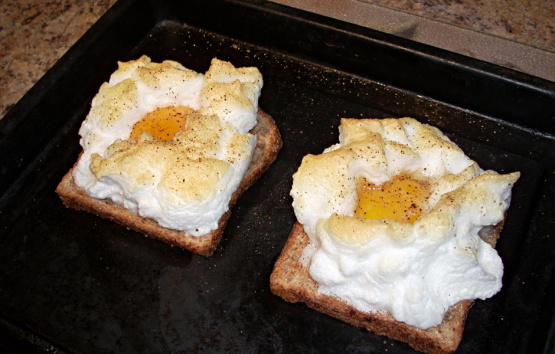 Eggs On A Cloud For One Or Two Toaster Oven Recipe