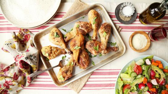 Simple Baked Chicken Drumsticks Recipe Genius Kitchen