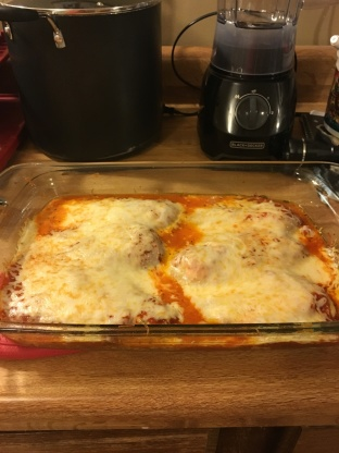 No Breading Baked Chicken Parmesan Recipe Genius Kitchen