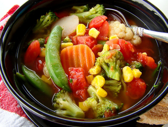Quick and easy steamer bag vegetable soup recipe genius kitchen like forumfinder Choice Image