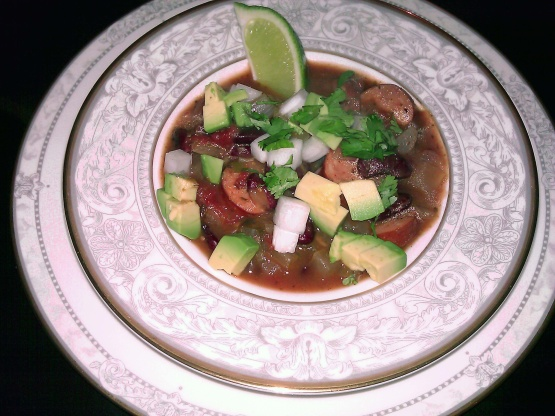 Spicy And Rich Sausage And Kidney Bean Chili Ww 6 ...